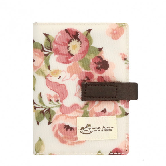 Transparent Card Holder | UMA015 | Polyphenol Flower Beige
