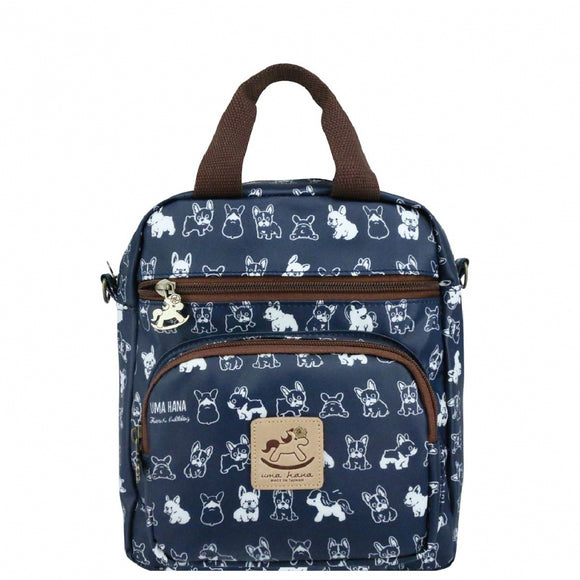 Caramel Triple Usage Bag | UMA226 | French Bull Dog Blue
