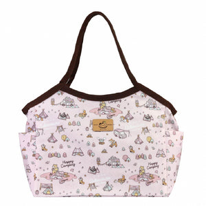 Uma hana Waterproof Large Shoulder Bag | UMA052 | Happy Camping Pink
