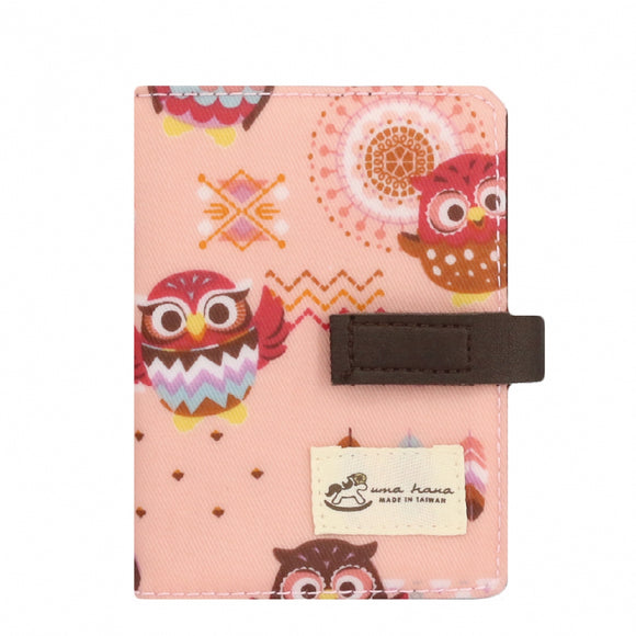 Transparent Card Holder | UMA015 | Indian Owl Pink