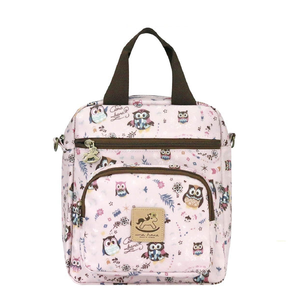 Caramel Triple Usage Bag | UMA226 | Le Fu Owl Pink