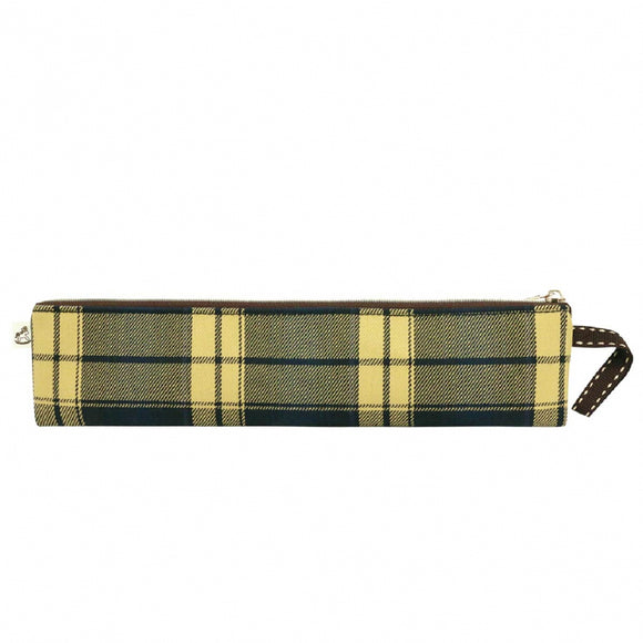 *Exclusive online* Waterproof Checkered Long Chopstick Pouch | UMA216CH | Checkered Navy