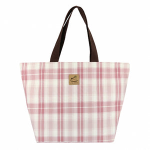 Waterproof Checkered Travel Tote Bag | UMA046CH | Checkered Pink