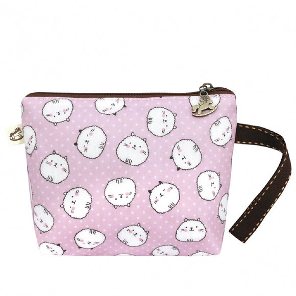 Mini Cosmetic Wristlet Pouch  | UMA153 | Puffy Little Cat Pink