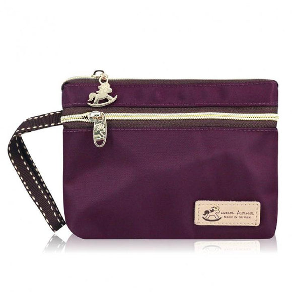 Premium Monochrome Waterproof Rectangle Cosmetic Pouch | UMA167SC Purple