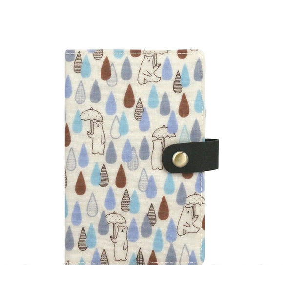 Waterproof Button Passport Cover | UMA096 | Raindrop Bear Beige
