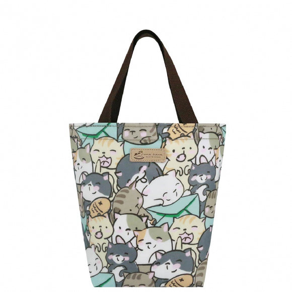 2 Drinks Handbag | UMA224 | Rice Ball Cat Green