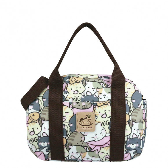 Big Bento Hand Bag (Button) 伴手禮袋 | UMA213 | Rice Ball Cat Pink