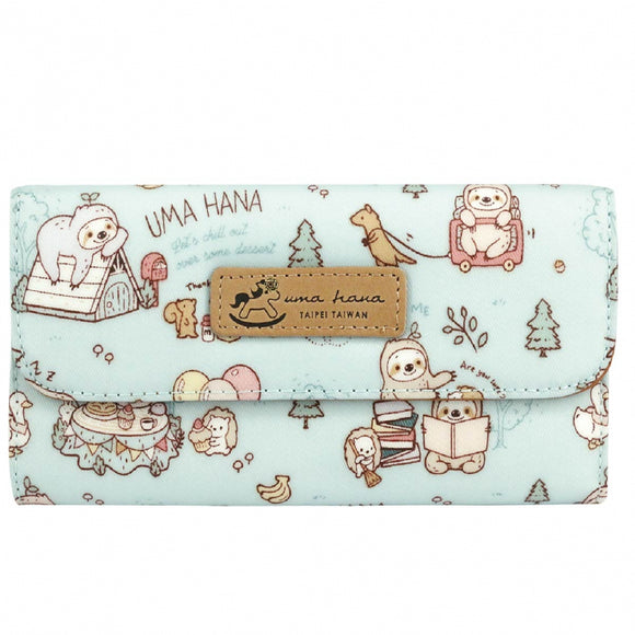 Multi Card Holder Long Wallet | UMA229 | Sloth Lake Blue