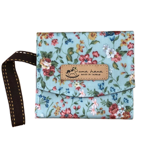 Sanitary Tissue Pouch | Waterproof | 御守包 | UMA161 | Small Floral Lake Blue