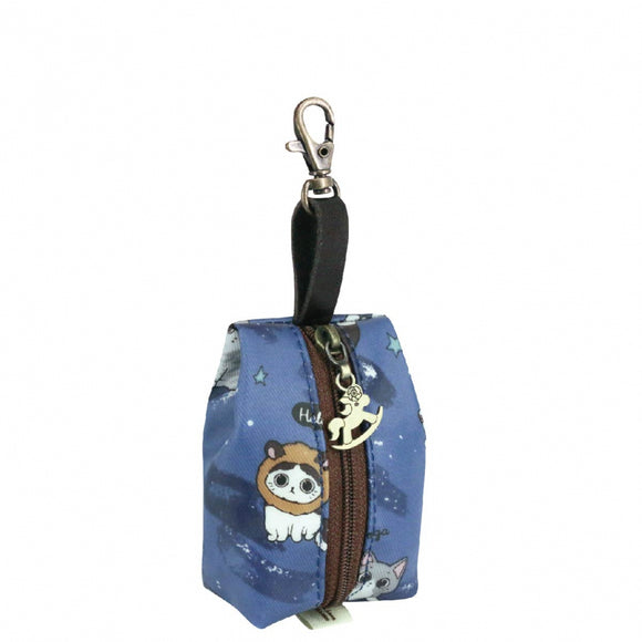 Jelly Coin Pouch | UMA225 | Star Cat Blue