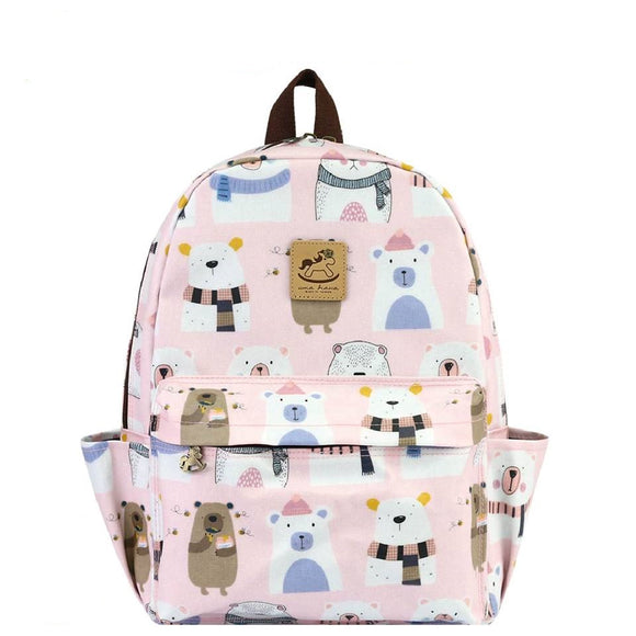 Waterproof Large Backpack | 新大後背包 | UMA196 | Starry Polar Bear Pink