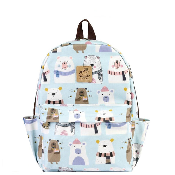 Waterproof Large Backpack | 新大後背包 | UMA196 | Starry Polar Bear Light Blue