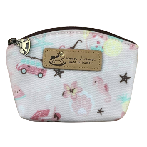 Shell Coin Pouch with Keyring | UMA166 | Summer Special Pink