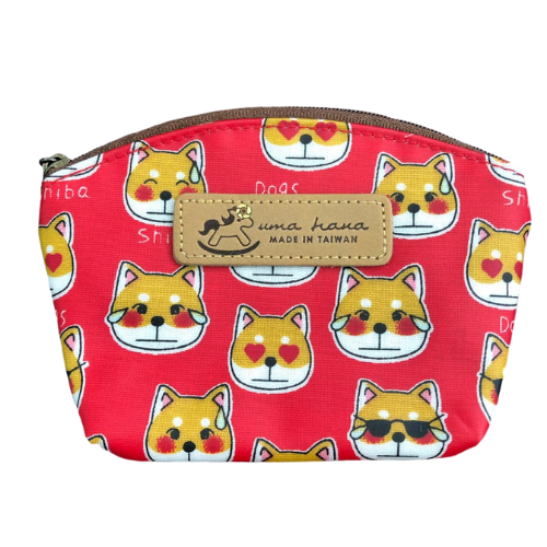 Shell Coin Pouch with Keyring | UMA166 | Sunglasses Shiba Red
