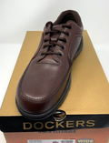 Dockers Men's Glacier Dark Tan Leather Oxford (Wide)