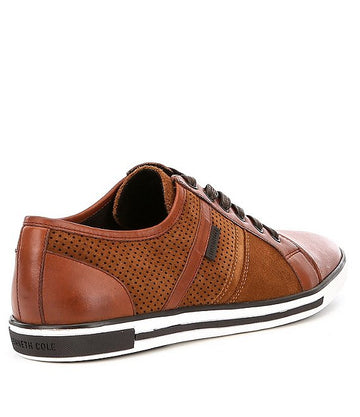 Kenneth Cole New York Men Leather Cap Toe Sneakers