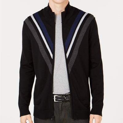 Alfani Men's Zip-Front Cardigan in Black - VendaStores
