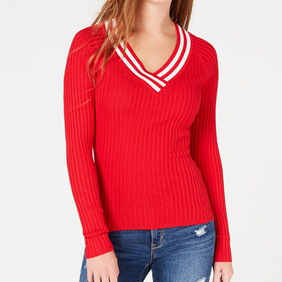 Hooked Up by IOT Juniors' Ribbed Sweater - VendaStores