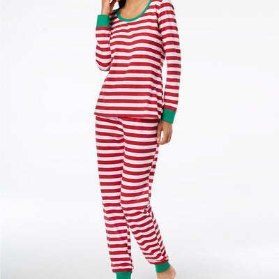Family Pajamas Matching Women's Holiday Stripe Pajama Set - VendaStores