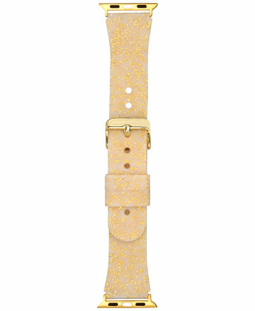 I.N.C. Women's Gold-Tone Glitter Silicone Apple Watch Strap 42mm