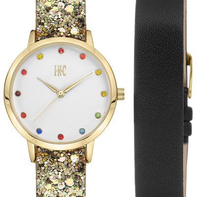I.N.C. Women's Glitter Faux Leather Strap Watch 36mm Gift Set, MSRP $67 - VendaStores