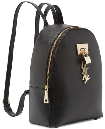 DKNY Elissa Lock-Chain Backpack in Black