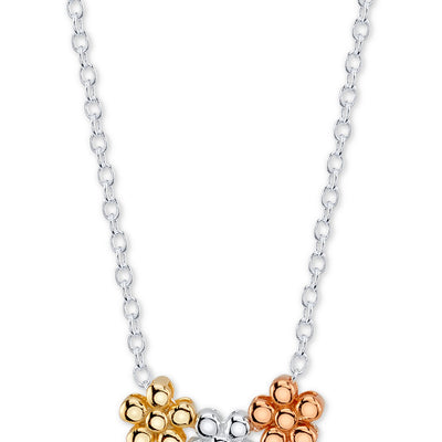 Unwritten Triple Flower Pendant Necklace - VendaStores