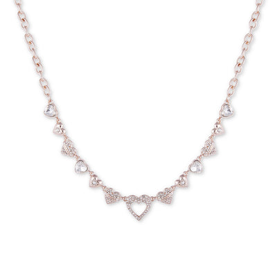GUESS Crystal Heart Collar Necklace - VendaStores