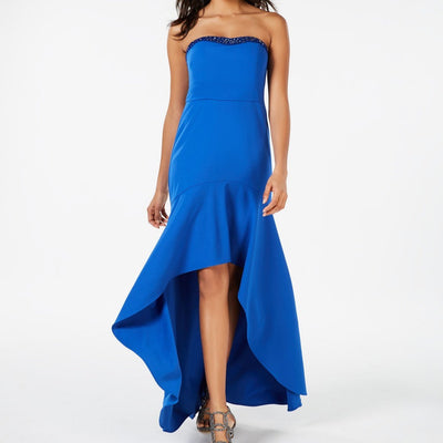 Adrianna Papell Strapless Crepe High-Low Gown Sizes 2, 10 - VendaStores