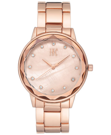 INC International Concepts Womens Bracelet Watch 36mm Rose Gold