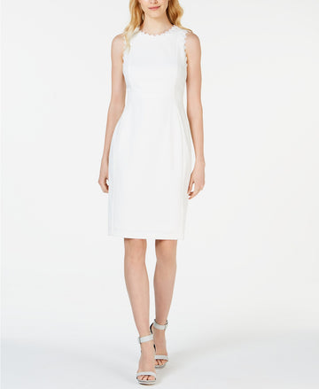 Calvin Klein Petite Lace-Trim Sheath Dress ( Petite 4 & 8)