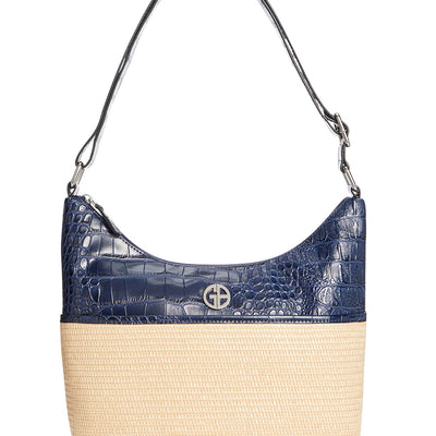 Giani Bernini Straw Crocodile Hobo Bag - VendaStores