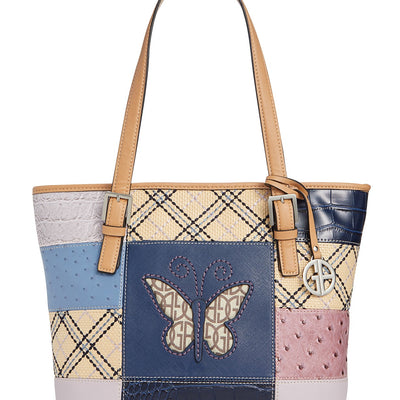 Giani Bernini Butterfly Patchwork Tote - VendaStores