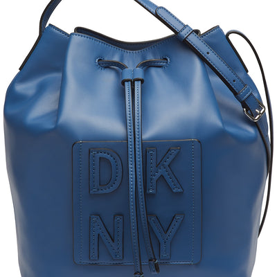 DKNY Tilly Stack Drawstring Bucket Blue - VendaStores