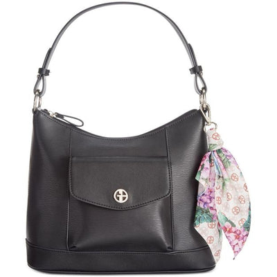 Giani Bernini Leather Hobo with Scarf - VendaStores
