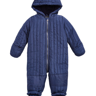 First Impressions Baby Boys  Size 12MOS Navy Quilted Snowsuit, MSRP $91 - VendaStores