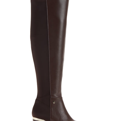 DKNY Cora Womens Size 7 Med Brown Knee High Boots, MSRP $280 - VendaStores