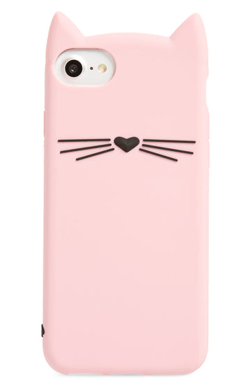 Kate Spade Cat Silicone iPhone 7/8 Case