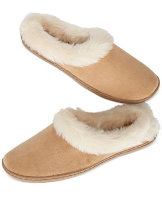 Charter Club Microvelour Clog Slippers Wine XL - VendaStores