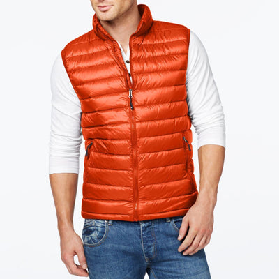 32 Degrees Packable Down Vest in Orange - VendaStores