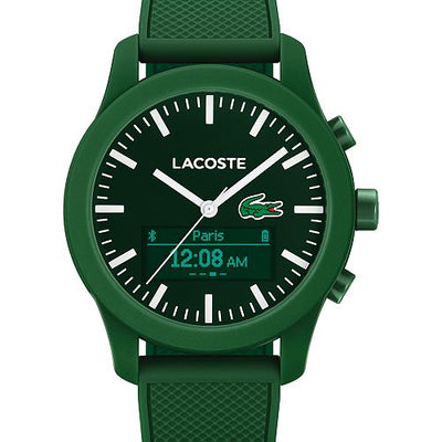 LACOSTE Women's Analog-Digital Contact Green Smart Watch 44mm - VendaStores