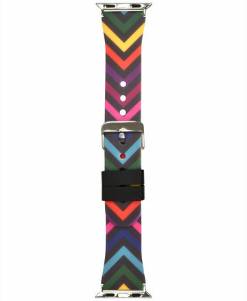 INC Women's Rainbow Chevron Silicon Apple Watch Band 42mm