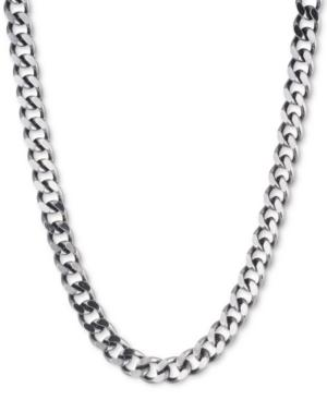 DKNY Hematite-Tone Large Link Collar Necklace - VendaStores