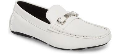 Calvin Klein Size 8 White Maddix Textured Driving Moccasin Sneaker, MSRP C$169 - VendaStores