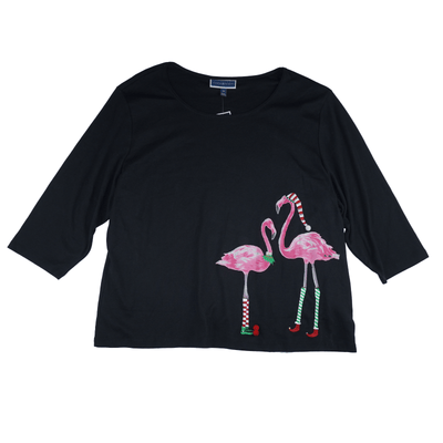 Karen Scott Women's Plus Size Flamingo Print Top - VendaStores