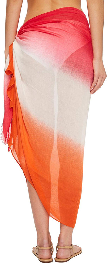 Calvin Klein Ombre Sarong Cover-Up Watermelon ONE SIZE