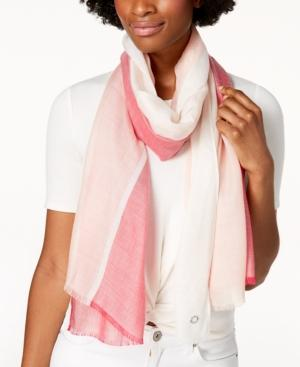 Calvin Klein Chambray Colorblocked Scarf Spring Rose