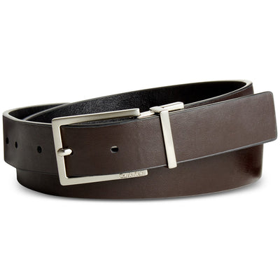 Calvin Klein Reversible Semi Shine Belt BlackBrownSilver XL - VendaStores