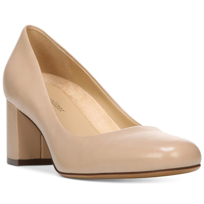 Naturalizer Whitney Block-High Heel in Tender Taupe - VendaStores